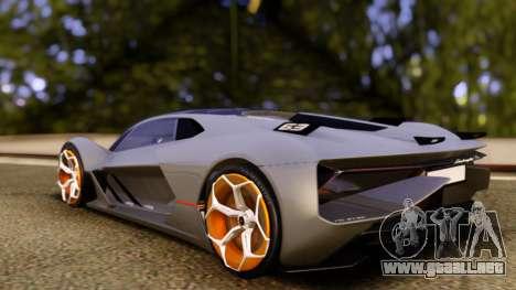 Lamborghini Terzo Millennio 2017 Concept para GTA San Andreas