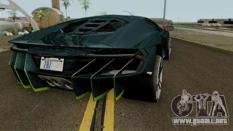 Lamborghini Centenario LP770-4 2017 para la visión correcta GTA San Andreas