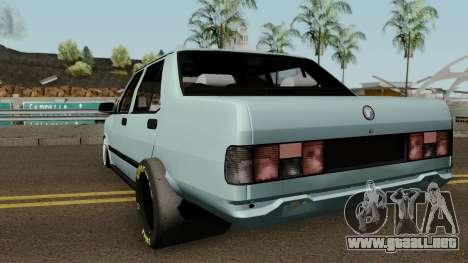 Drag Tofas para GTA San Andreas vista posterior izquierda