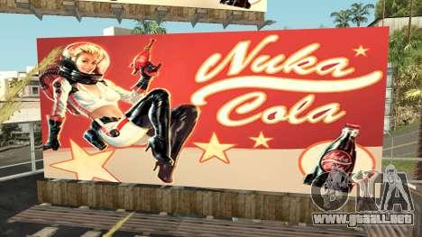 Nuka Cola Billboards para GTA San Andreas sucesivamente de pantalla