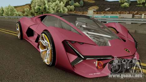 Lamborghini Terzo Millennio 2017 para visión interna GTA San Andreas
