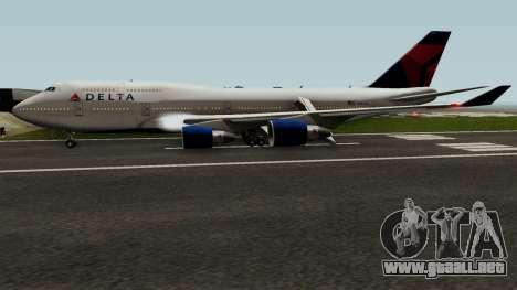 Delta Air Lines Boeing 747-400 para GTA San Andreas