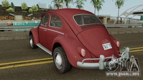 Volkswagen Beetle Deluxe 1300 (Non-ragtop) 1963 para GTA San Andreas