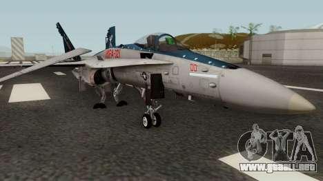 FA-18C Hornet VMFA-321 MG-00 para GTA San Andreas