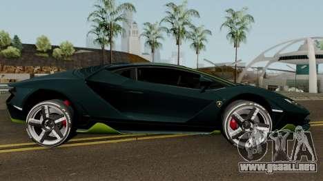 Lamborghini Centenario LP770-4 2017 para GTA San Andreas vista hacia atrás