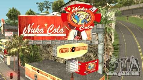 Nuka Cola Billboards para GTA San Andreas quinta pantalla