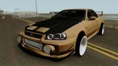 Deuces Nissan Skyline Evolution GT-R 34 para GTA San Andreas