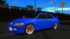 Mitsubishi Lancer Evolution VII Blue para GTA San Andreas