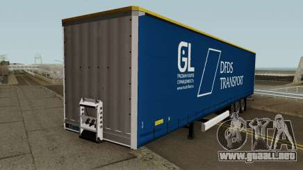 DFDS Transport Trailer para GTA San Andreas