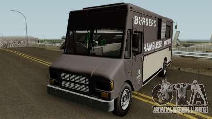Brute Burger Van GTA V IVF para GTA San Andreas