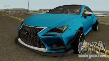Lexus RC-F para GTA San Andreas