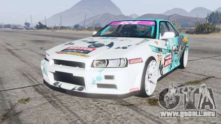 Nissan Skyline GT sedan (ER34) 2000 GT-Shop v1.1 para GTA 5