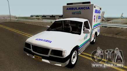 Chevrolet Luv Ambulancia Colombiana para GTA San Andreas
