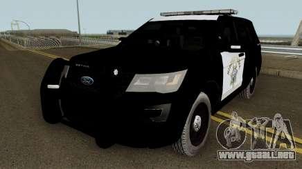 Ford Explorer CHP 2016 para GTA San Andreas