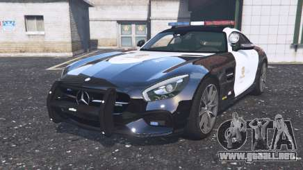 Mercedes-AMG GT coupe (C190) 2016 Police para GTA 5