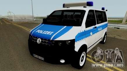 Volkswagen T5 German Police para GTA San Andreas