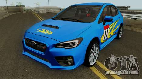 Subaru WRX STI 2016 para la vista superior GTA San Andreas
