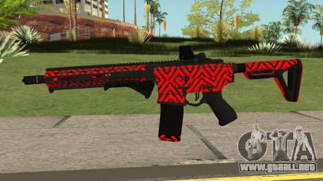 New Assault Rifle (Red) para GTA San Andreas