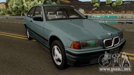 BMW 3-Series e36 Compact 318ti 1995 (US-Spec) para visión interna GTA San Andreas