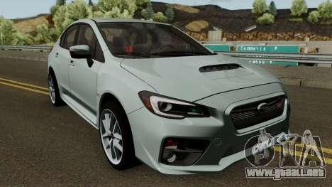 Subaru WRX STI 2016 para visión interna GTA San Andreas