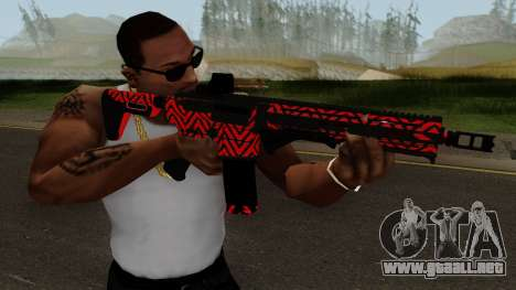 New Assault Rifle (Red) para GTA San Andreas tercera pantalla