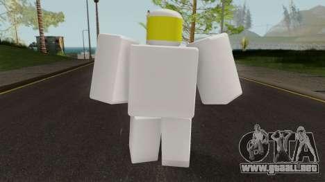 Roblox Noob para GTA San Andreas tercera pantalla