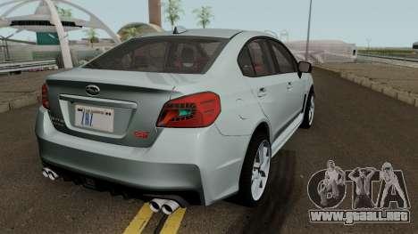 Subaru WRX STI 2016 para la visión correcta GTA San Andreas