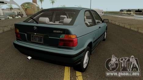 BMW 3-Series e36 Compact 318ti 1995 (US-Spec) para la visión correcta GTA San Andreas