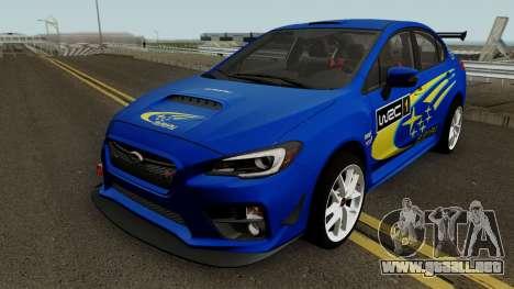 Subaru WRX STI 2016 para las ruedas de GTA San Andreas
