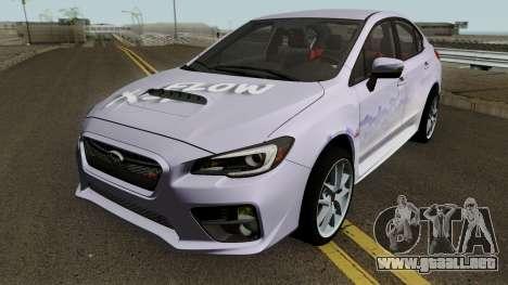 Subaru WRX STI 2016 para vista inferior GTA San Andreas