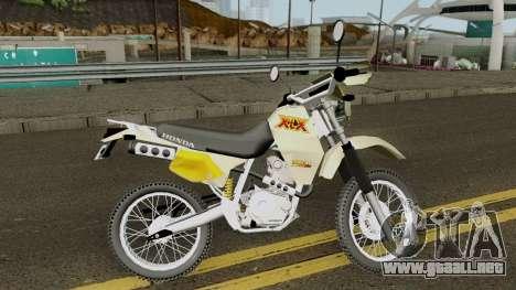 Honda XLX 350R para GTA San Andreas