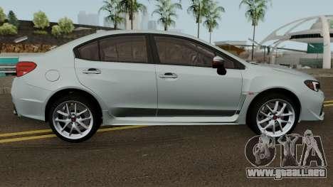 Subaru WRX STI 2016 para GTA San Andreas vista hacia atrás