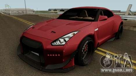 Nissan GT R35 (Rocket Bunny) Edition para GTA San Andreas