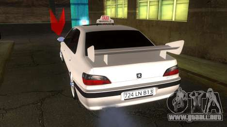 Peugeot 406 Taxi Marselle v2.5 para GTA San Andreas