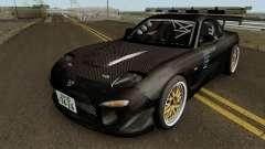 Mazda RX-7 FD3s Touge Warior - Black Brother para GTA San Andreas