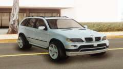 BMW X5 White Stock para GTA San Andreas