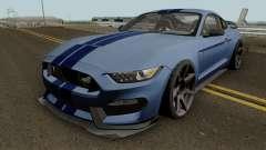 Ford Mustang Shelby GT350R 2016 HQ para GTA San Andreas