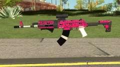 Gunrunning Assault Rifle Mk2 GTA V Pink Skull