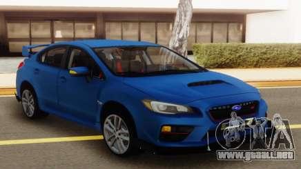 Subaru Impreza WRX STI Sedan Blue para GTA San Andreas