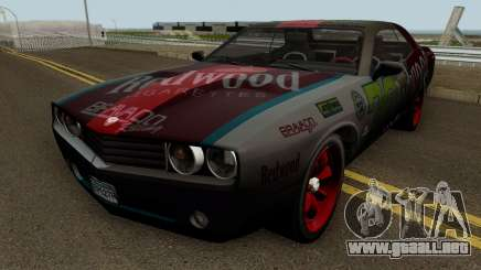 Dodge Challenger SRT Redwood (Gauntlet) 2012 para GTA San Andreas