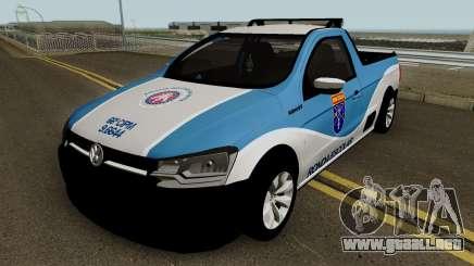 Volkswagen Saveiro G7 ROBUST PMBA Ronda Escolar para GTA San Andreas