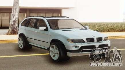 BMW X5 White Stock para GTA San Andreas