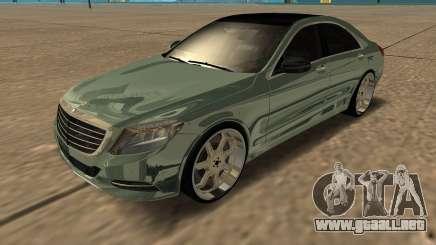 Mersedes-Benz S63 W222 Bulkin Amoral para GTA San Andreas