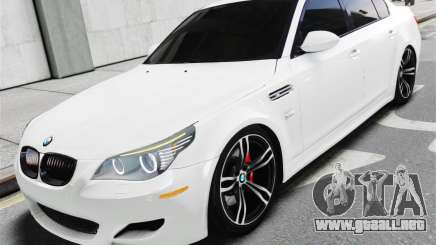 BMW M5 E60 White Stock para GTA 4