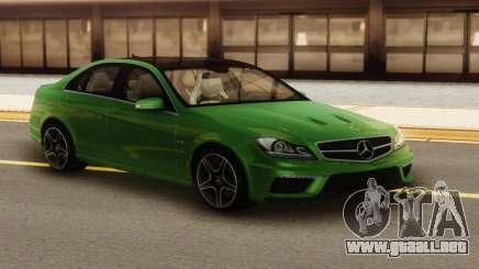 Mercedes-Benz C63 AMG Green para GTA San Andreas