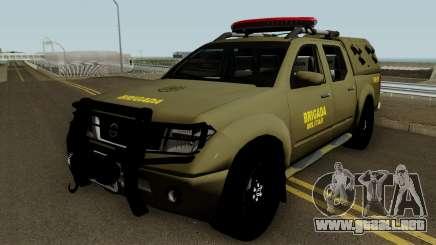 Nissan Frontier Brazilian Police (Verde) para GTA San Andreas