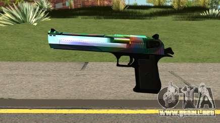Rainbow Desert Eagle para GTA San Andreas