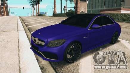 Mercedes-Benz C63S AMG para GTA San Andreas