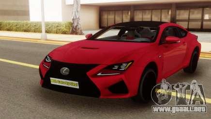 Lexus RC-F Coupe para GTA San Andreas