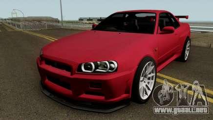 Nissan Skyline GT-R R34 1999 para GTA San Andreas